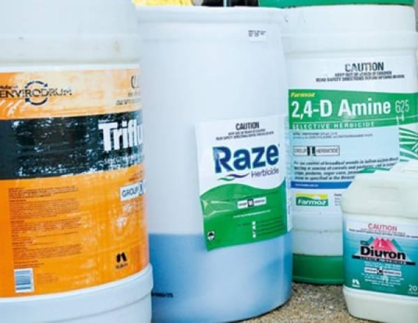 Drums of hazardous substances