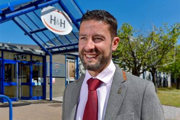 Richard Rankin, Chief Executive outside H&H in Carlisle